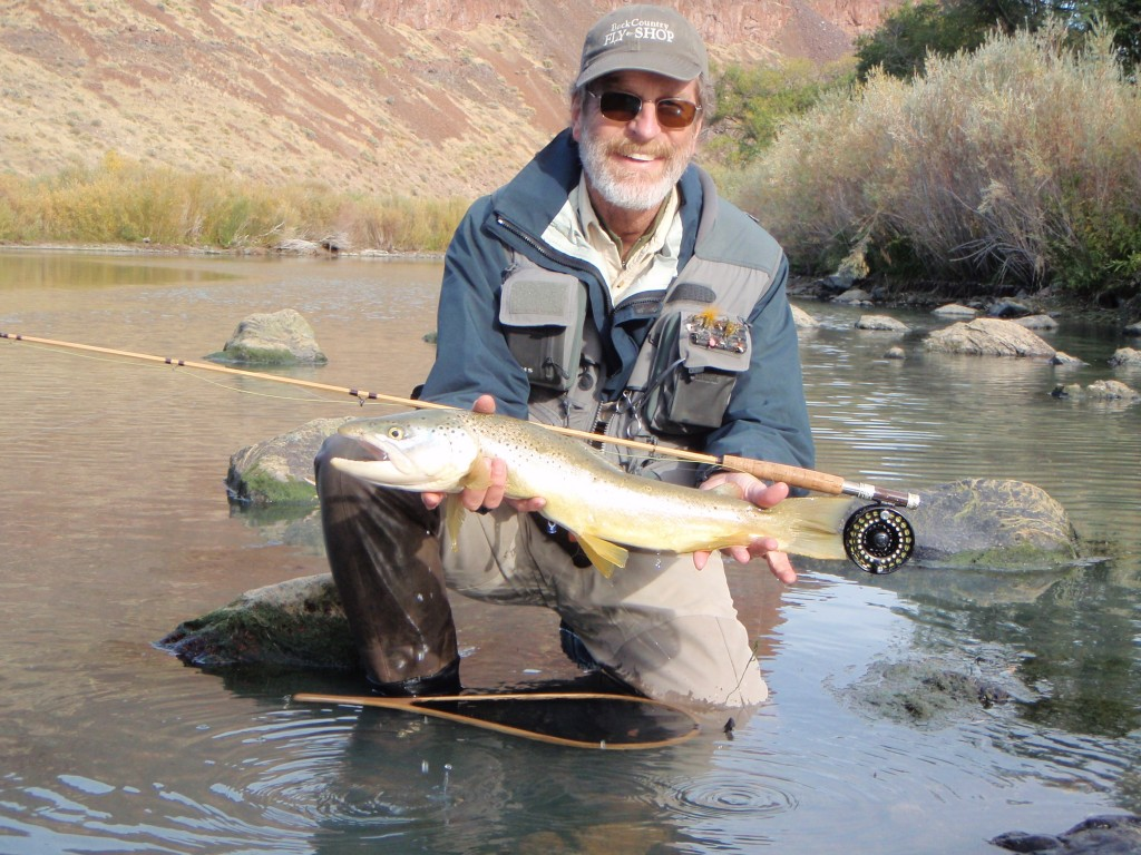 Fishing for brown trout on the owyhee river with bamboo for River trout fishing