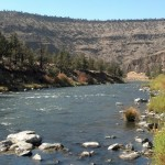 Looking downstream on the Crooked River
