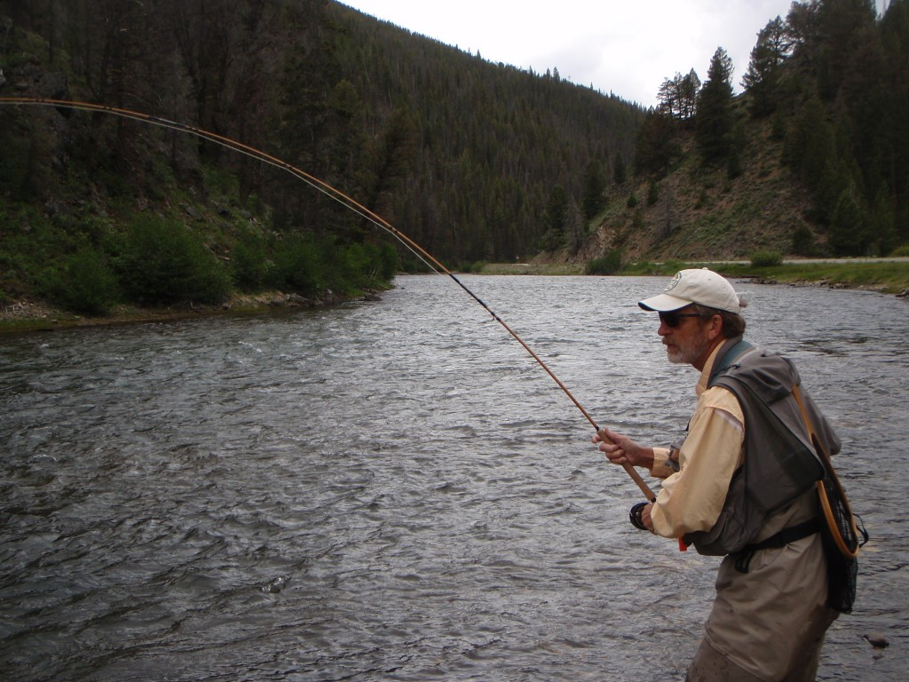 Check out the progressive bend on the bamboo as Dave plays the fish