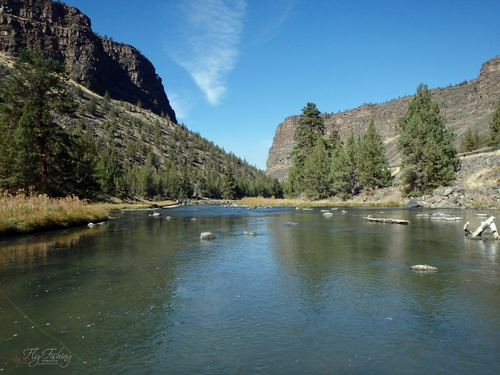 Looked Down Stream at the Crooked River Canyon